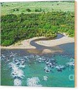 Puerta Plata Coastline Wood Print