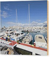 Puerto Banus Marina In Spain Wood Print