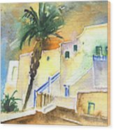 Puerto Carmen Sunset In Lanzarote 03 Wood Print