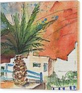 Puerto Carmen Sunset In Lanzarote Wood Print