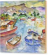 Puerto Mogan 01 Wood Print
