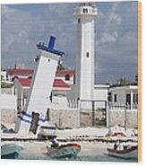 Puerto Morelos Lighthouse Wood Print