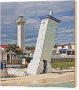 Puerto Morelos Lighthouses Wood Print