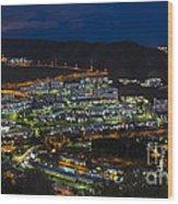Puerto Rico By Night  Wood Print