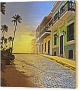 Puerto Rico Collage 2 Wood Print by Stephen Anderson