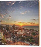 Puerto Vallarta Sunset Wood Print