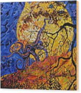 Puffer Fish Rising Wood Print