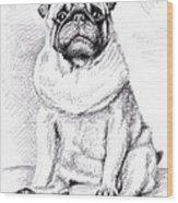 Pug Anton Wood Print