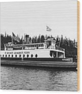 Puget Sound Ferry Boat Wood Print