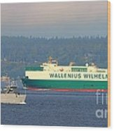 Puget Sound Shipping Waterway Wood Print