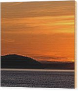 Puget Sound Sunset - Washington Wood Print by Brian Harig