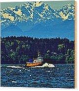 Puget Sound Tugboat Wood Print