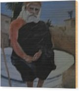 Pujya Bapji Wood Print