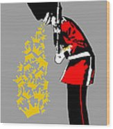 Puke Royal Guard Digital Version Wood Print