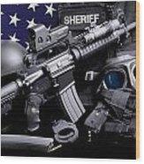 Pulaski Sheriff Tactical Wood Print