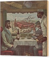 Pullman Compartment Cars Ad Circa 1894 Wood Print
