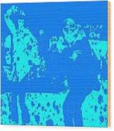 Pulp Fiction Dance Blue Wood Print