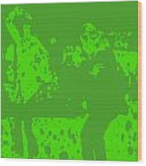 Pulp Fiction Dance Green Wood Print