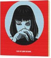 Pulp Fiction Poster 3 Wood Print