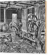 Pump House Wood Print