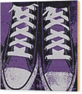 Pumped Up Purple Wood Print