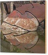 Pumphouse Intake Pipes Wood Print