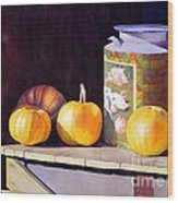 Pumpkiins At Collier Farm Wood Print
