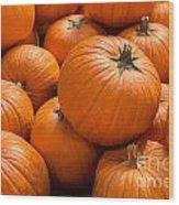Pumpkin Background Wood Print
