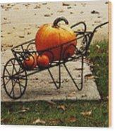 Pumpkin Barrow Wood Print