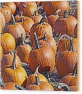 Pumpkin Harvest Wood Print