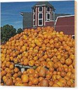Pumpkin Heaven Wood Print