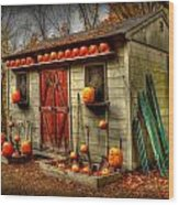 Pumpkin House Wood Print