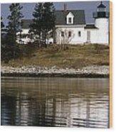 Pumpkin Island Lighthouse Wood Print
