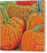 Pumpkin Wood Print by Baywest Imaging