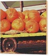 Pumpkin Load Wood Print