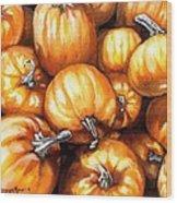 Pumpkin Palooza Wood Print
