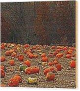 Pumpkin Season Wood Print