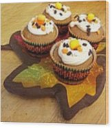 Pumpkin Spice Cupcakes Wood Print by Rosalie Klidies