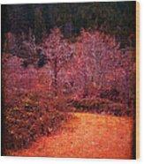 Pumpkin Spice Winter Wood Print