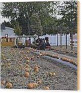 Pumpkin Train Wood Print