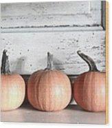 Pumpkin Trio Wood Print