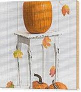 Pumpkins For Thanksgiving Wood Print
