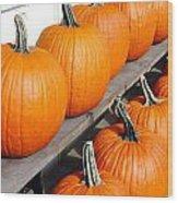 Pumpkins Wood Print by Valentino Visentini