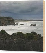 Punakaiki Rocks Wood Print