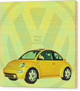 Punch Buggy Wood Print