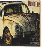 Punch Buggy Rust Wood Print