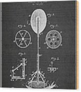 Punching Apparatus Patent Drawing From1895 Wood Print