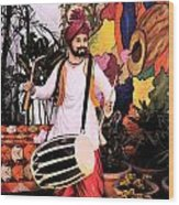 Punjabi Dhol Wood Print