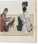 Punjabi Schoolmaster, Artwork Wood Print