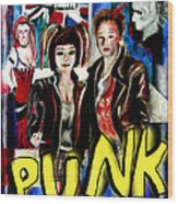 Punk Style Wood Print